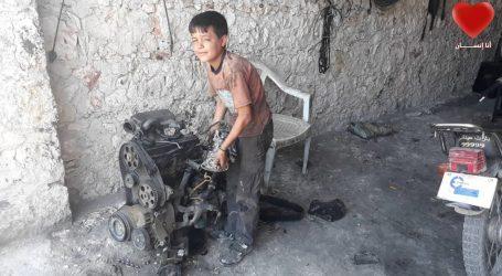 أطفال ادلب … عمالة في ظروف صعبة وقاسية